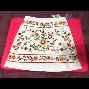 Forever 21 Floral Knit Skirt